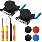 TOMSIN Joystick Replacement for Joy Con, 3D Analog Thumbstick Repair Kit for Nintendo Switch Joy-con Controller (2-Pack) Blue