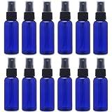 スプレーボトル 12本セット 詰替ボトル 遮光 空容器 霧吹き(50ml ブルー)