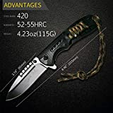 *New* CROCBAIT Knife Folding Pocket Knife Hunting Camping Fishing Survival Tactical Bushcraft with *Free* Quality Keyring