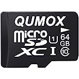 QUMOX 64GB Micro SD Memory Card Class 10 UHS-I 64 GB HighSpeed Write Speed 20MB/S Read Speed Upto 40MB/S