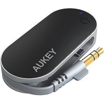 AUKEY Bluetooth トランスミッター Bluetooth送信機 ワイヤレス オーディオ トランスミッター 3.5mmステレオミニプラグ接続 BT-C1