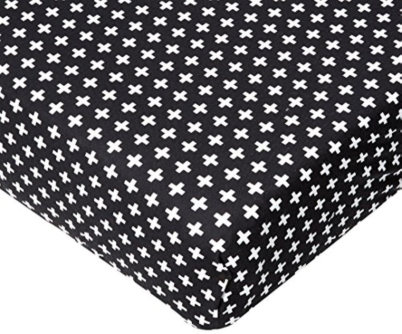 Olli & Lime Cross Crib Sheet, Black/White by Olli & Lime