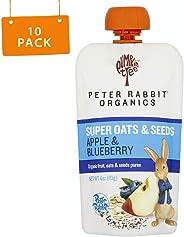 Peter Rabbit Organics Super Oats & Seeds Apple & Blueberry Snacks, 4 Ounce (Pack of 10)