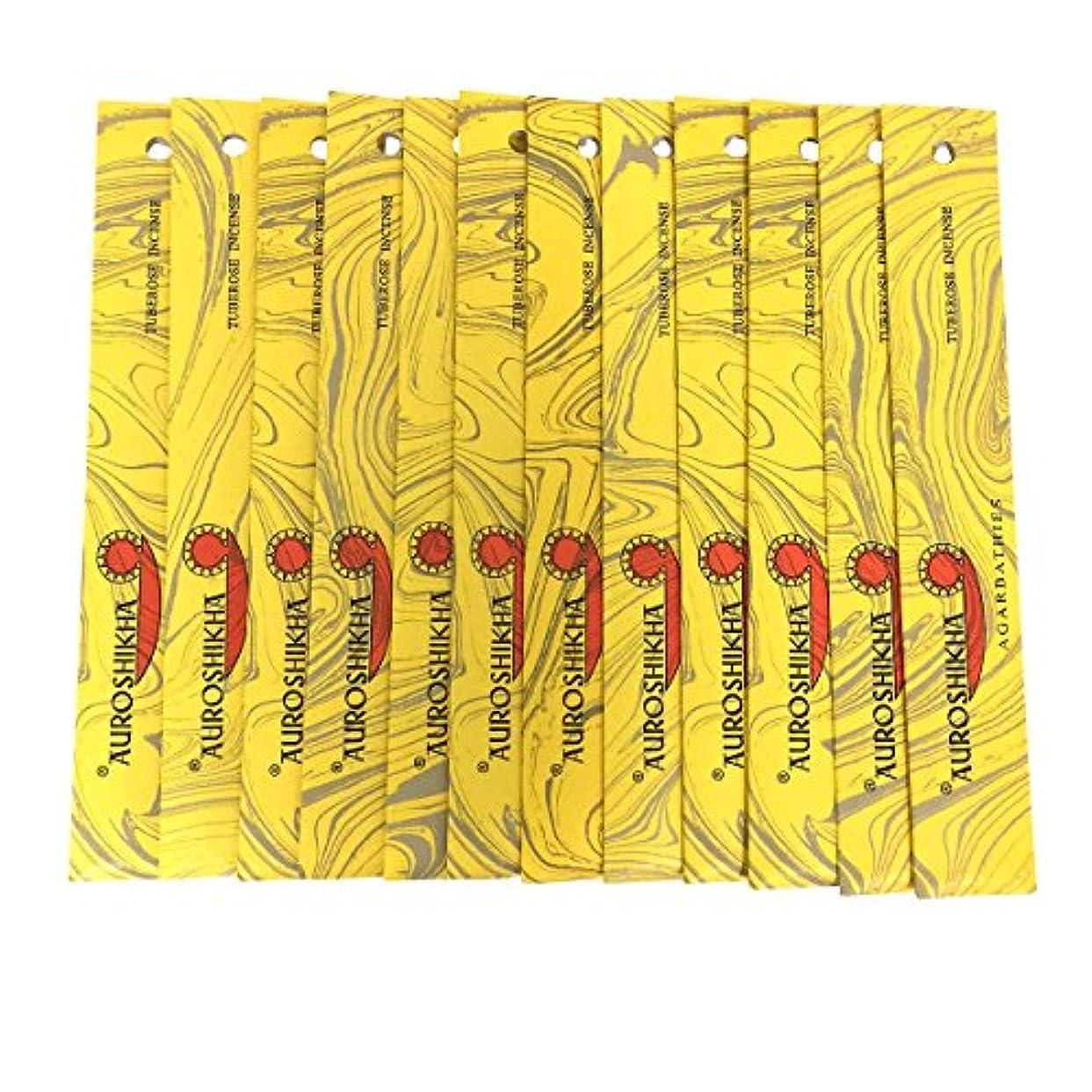 巻き戻す泥棒平らにするAUROSHIKHA オウロシカ(TUBEROSEチューベローズ12個セット) マーブルパッケージスティック 送料無料
