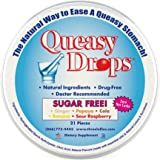 Three Lollies Queasy Drops | Sugar Free | Assorted for Nausea Relief | Ginger | Papaya | Cola | Banana | Sour Raspberry | 21