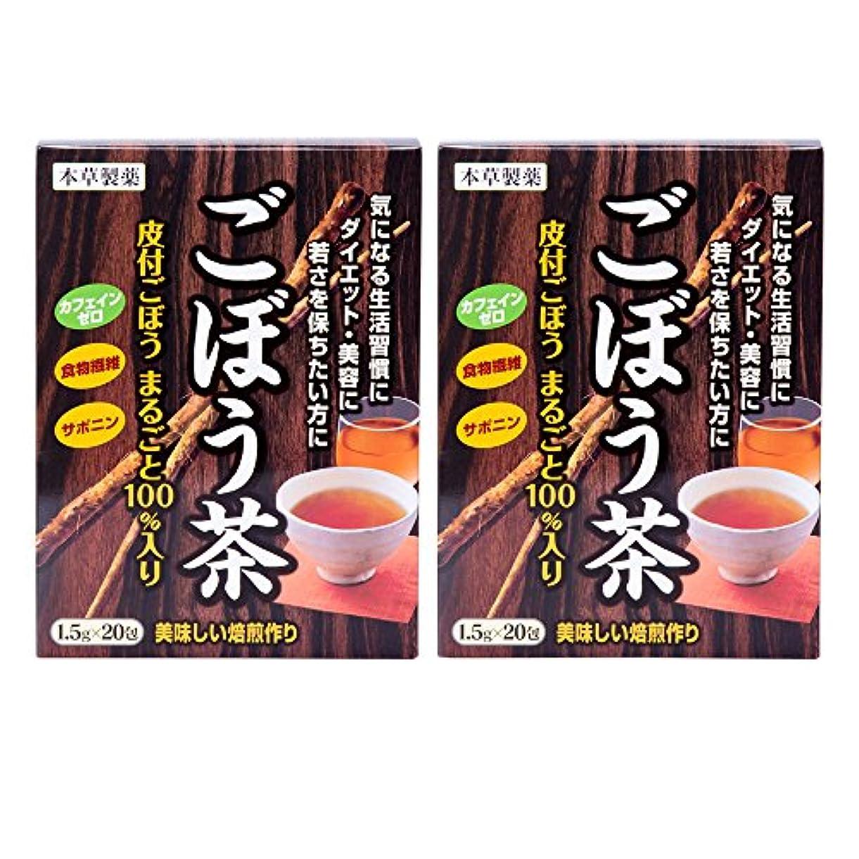 ましいかき混ぜる穴本草製薬 ごぼう茶 2個セット