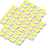 INEX LEDチップ SMD 3020 ホワイト 白発光 50個 打ち替え 打ち換え DIY 自作 エアコンパネル メーターパネル スイッチ