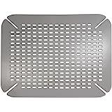 InterDesign Contour Kitchen Sink Protector Mat, Graphite