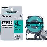キングジム テープカートリッジ テプラPRO SC4G 4mm 緑/黒文字