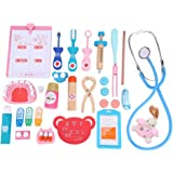 Doctor Kit for Toddlers, 20pcs Pretend Play Toddlers Outdoor Playset, Wooden Toys Dentist Doctor Kit for Kids 2-5 Year Old, R