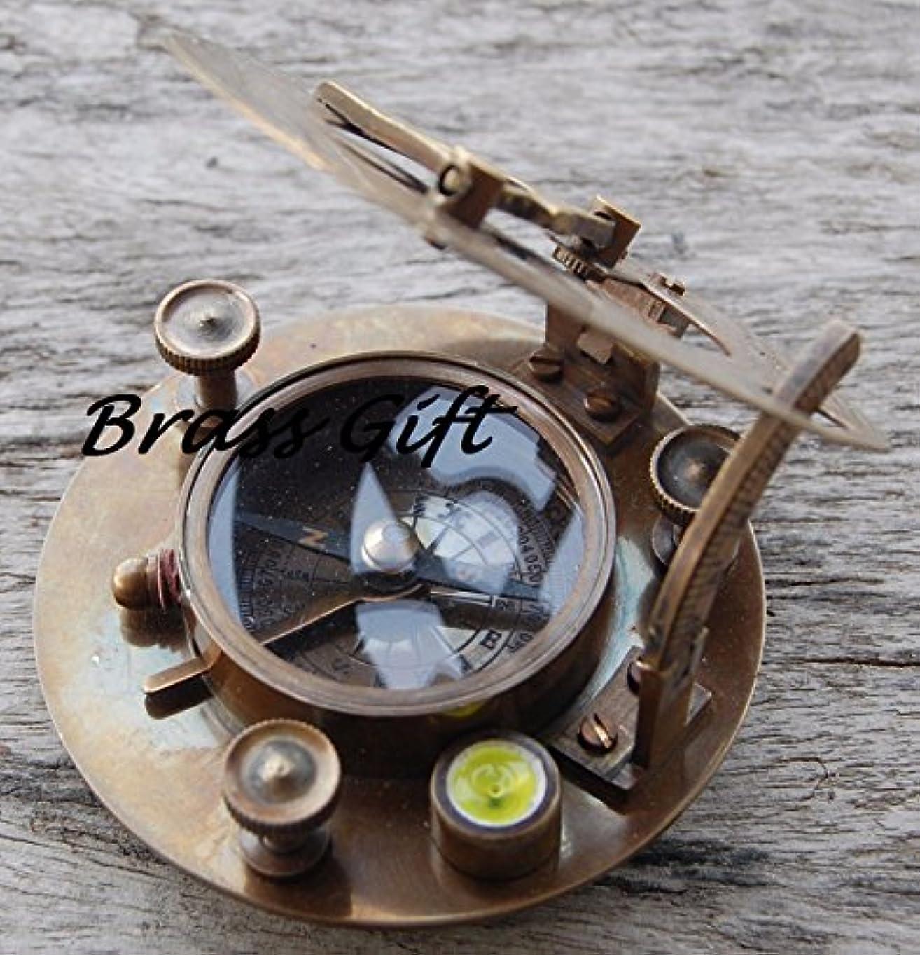 脚本家強風透明に真鍮sundial-west-london-compass-maritime-ナビゲーションAstrolabe