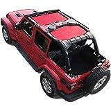 Shadeidea Jeep Wrangler Shade JLU4D-Combo Unlimited -Black Mesh Top Cover JLU4D-Combo Cherry Red
