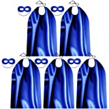 Superhero Capes and Masks for Adults Bulk Pack for Men & Women - Dress Up Superhero Party Costumes for Team Building, 100% po
