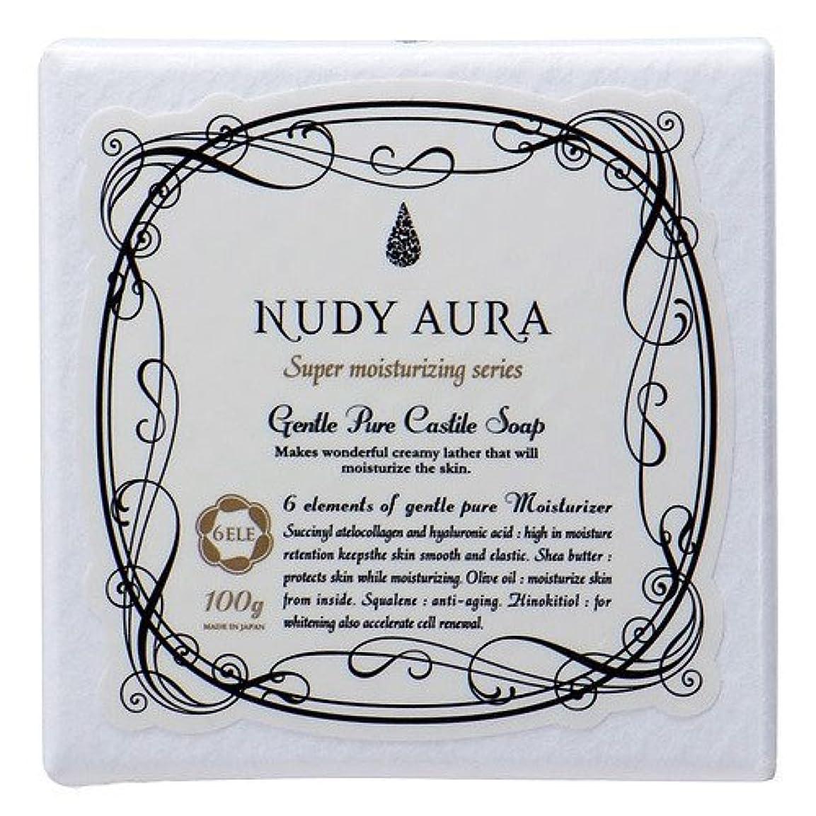アイザック床を掃除する拍手するヌーディーオーラ キャスティールソープ 100g