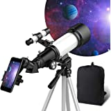 Telescope for Kids Beginners, 70mm Aperture 400mm AZ Mount, Fully Multi-Coated Optics, Telescopes for Adults, Astronomy Refra