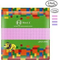 NextX ブロック クラシック 基礎板 互換性のある 大きいサイズ 両面ブロックプレート 2色4枚 32x32ポッチ