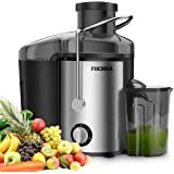 Juicer Machines FOCHEA Centrifugal Juicer 400W Powerful Juicer Extractor For Fruits & Vegetables with Adjustable Spout,Stainl