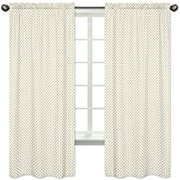 Sweet Jojo Designs 2-Piece Gold and White Polka Dot Window Treatment Panels Curtains for Amelia Bedding Collection [並行輸入品]