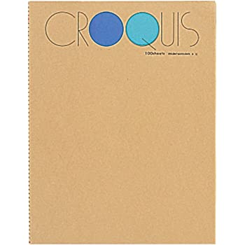 マルマン スケッチブック クロッキー帳 白クロッキー紙 ブルー SL-02