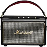 Marshall Kilburn Portable Bluetooth Speaker, with 20+ Hours of Portable Playtime and Powerful and Customisable Sound, Black