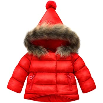 ad6c47ff473b8 Tonsee ベビー服 子供服 男の子 女の子 コート 長袖 厚手 フード付き 秋冬 ジャケット 防寒 アウター 上