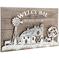 Welcome to theファーム亜鉛メッキメタルウォール装飾素朴な農家国壁Piece