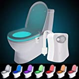 The Original Toilet Night Light Gadget, Fun Bathroom Lighting Add on Glow Bowl Seat, Motion Sensor Activated LED 9 Color Mode