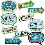 Funny Happy Camperキャンプ – ベビーシャワーまたは誕生日パーティー写真ブース小道具キット – 10 Piece