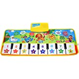 "Kids Piano Mat, 39.5"" X 14"" Music Mats Keyboard Dancing Mat Electronic Touch Play Blanket Musical Carpet Toys for 3-6 Years O"