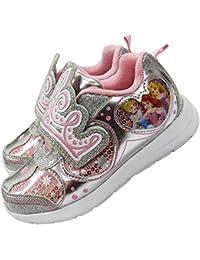 Disney ディズニー プリンセス キッズ 子供 光る 運動靴 スニーカー 女の子 - デザインA/16㎝