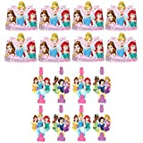 Disney Princess Dream Big Birthday Party Favors Pack Including Blowouts and Kids Paper Tiaras - 8 Guests [並行輸入品]