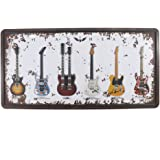 6x12 Inches Vintage Feel Rustic Home,bathroom and Bar Wall Decor Car Vehicle License Plate Souvenir Metal Tin Sign Plaque (Gu