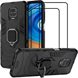 EasyLifeGo for Xiaomi Redmi Note 9S / Redmi Note 9 Pro/Note 9 Pro Max Kickstand Case with Tempered Glass Screen Protector [2