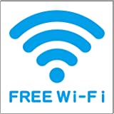 FREE Wi-Fi プレート 看板 15cm×15cm