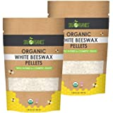Sky Organics USDA Organic White Beeswax Pellets (2lb) Pure Bees Wax No Toxic Pesticides or Chemicals - 3 x Filtered, Easy Mel