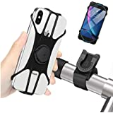 Bike Phone Mount Holder, Bicycle Mobile Phone Holder Removable Smartphone Holder with 360 Degree Rotatable Universal for All