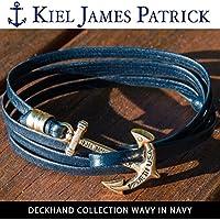 (キールジェイムスパトリック)KIEL JAMES PATRICK ロープ ブレスレット DECKHAND COLLECTION/WAVY IN NAVY/DC-1569-400 kjp-087