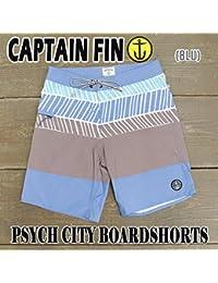 CAPTAIN FIN/キャプテンフィン PSYCH CITY BOARDSHORTS BLUE 男性用 サーフパンツ ボードショーツ 海パン 水着 [並行輸入品]