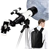Telescope for Kids and Beginners - 70mm Aperture 400mm AZ Mount Astronomical Refractor Telescope, Good Gift for Observe The M