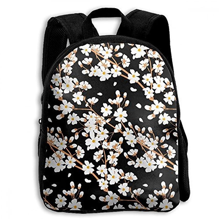 に応じて障害黒キッズ リュックサック バックパック キッズバッグ 子供用のバッグ キッズリュック 学生 花柄 植物 花 アウトドア 通学 ハイキング 遠足