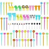 66 Pcs Animal Food Picks for Kids, Mini Bento Picks, Cute Cartoon Animal Fruit Food Toothpicks, Lunch Bento Box Picks Forks