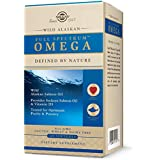 Solgar Wild Alaskan Full Spectrum Omega, 120 Softgels - Supports Heart, Brain, Bone and Skin Health - Provides Vitamin D3 - R