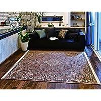 【大幅値下げ中!】最高級ペルシャ絨毯デザイン 繊細で鮮明 ゴブラン織りラグ200×200