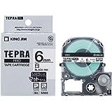 キングジム テープカートリッジ テプラPRO マットラベル 6mm 白 SB6S