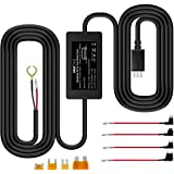 Vantrue N2 Pro, N2, T2, N1 Pro, X4, X3 Dash Cam 10ft Mini USB 12V 24V to 5V Dash Cam Hardwire Kit with Mini, ACS, ATO, Micro2