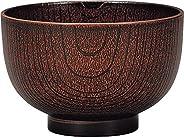 京型汁椀 325ml 茶木目 73270