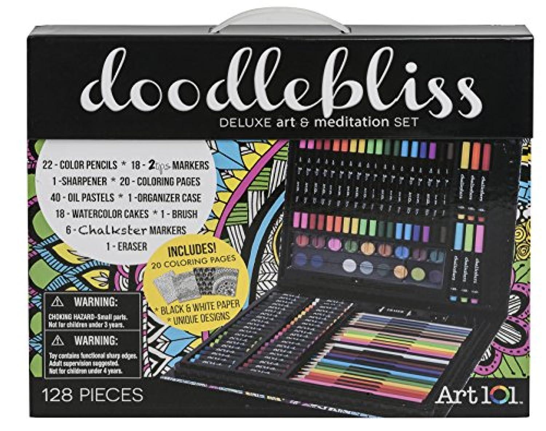 アート101 Doodlebliss Ecoboardハイブリッドアートセット( 128枚)