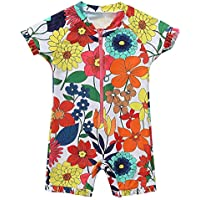 Charmo Baby Boys Girls One Piece Zip Rash Guard Swimsuit Wetsuit UPF 50+