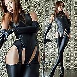 ボンテージスーツ コスチューム ブラック フリーサイズ