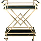 Kitchen Drink Trolley,European Style Wrought Iron with Lock Wheel,Catering Trolley Serving Trolley Clearing Trolley Kitchen C